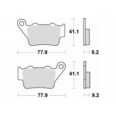 773SM1 Semi-metallic Brake Pad