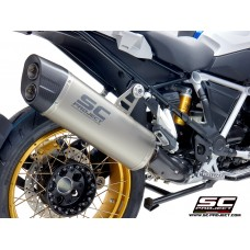 BMW R 1250 GS (2019 - 2021) - ADVENTURE, TITANIUM MUFFLER WITH CARBON FIBER ENDCAP