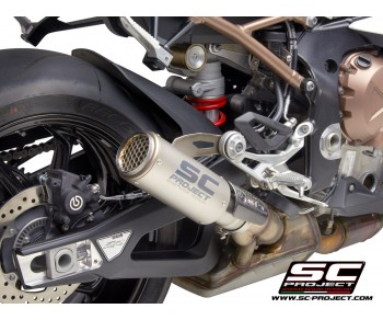 BMW S1000RR (2019 - 2020) CR-T TITANIUM MUFFLER. WITH MESH ON EXIT