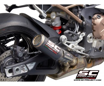 BMW S1000RR (2019 - 2020) CR-T CARBON MUFFLER. WITH MESH ON EXIT