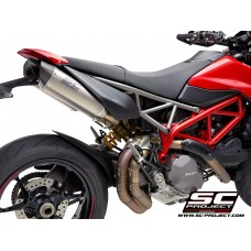 DUCATI HYPERMOTARD 950 - SP (2019 - 2020) PAIR OF SC1-M TITANIUM MUFFLERS, WITH CARBON FIBER ENDCAP