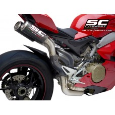 DUCATI PANIGALE V4 R  HALF SYSTEM 2-1-2 TITANIUM, WITH DOUBLE CR-T M2 CARBON FIBER MUFFLERS