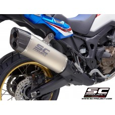 HONDA CRF1000L AFRICA TWIN (2016 - 2019) - ADVENTURE, TITANIUM MUFFLER WITH CARBON FIBER ENDCAP