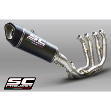 BMW S1000RR (2019 - 2020) FULL EXHAUST SYSTEM 4-1 TITANIUM WITH CARBON SC1-R MUFFLER 350MM
