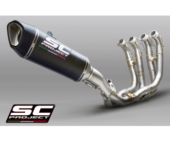 BMW S1000RR (2019 - 2020) FULL EXHAUST SYSTEM 4-1 TITANIUM WITH CARBON SC1-R MUFFLER 250MM