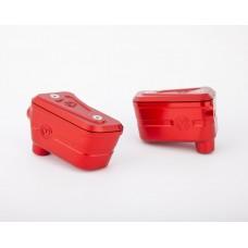 Moto Corse Brake & Clutch reservoirs kit for Brembo semi-radial OEM pumps Streetfighter V4/S - Red