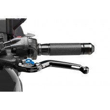 FOLDABLE CLUTCH LEVER 2.0. BLACK / SELECTOR BLUE
