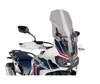 ADJUSTABLE SCREEN FOR HONDA CRF1000L AFRICA TWIN 2016-2019 - SMOKE